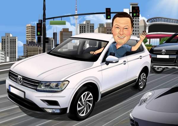 Mit dem Auto in der Stadt