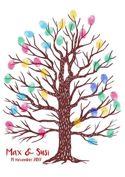 Einfacher Baum Fingerabdruck