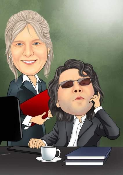 Der Boss und seine Assistentin