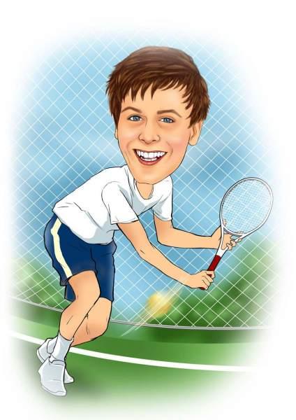 Rückhandschlag im Tennis