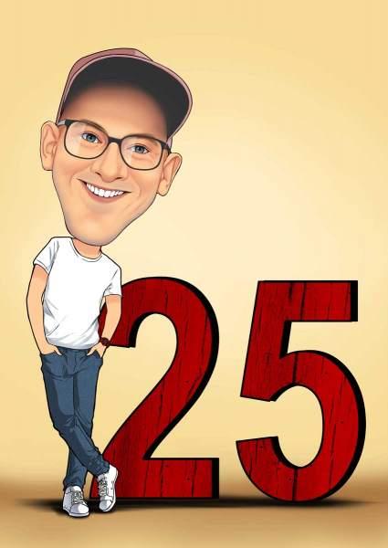 25 Jahre Geburtstag