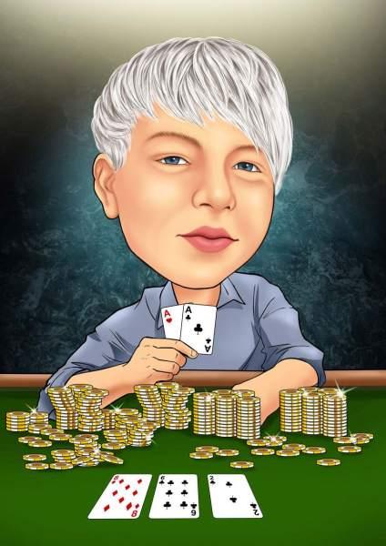 Pokerface/hoch gepokert