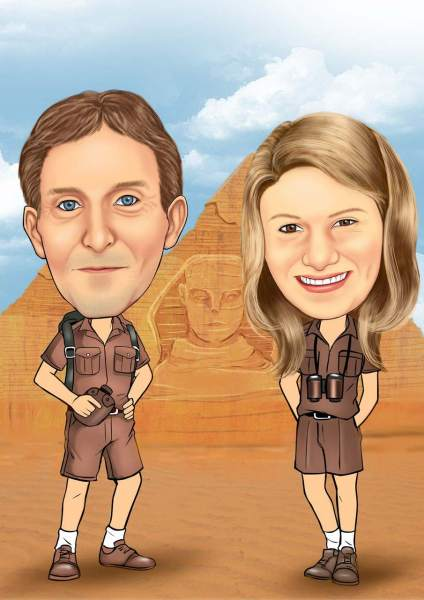 Vor den Pyramiden Ägyptens