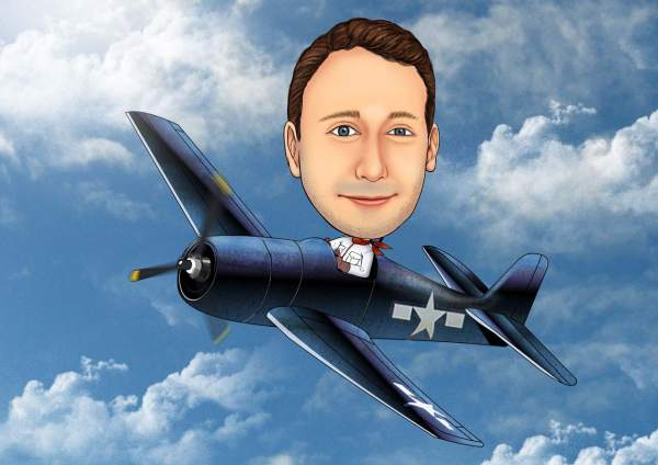 Leidenschaftlicher Pilot