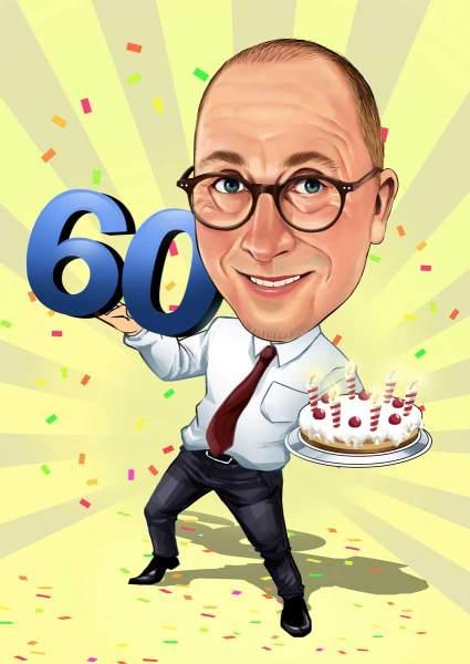 Torte und 60. Geburtstag