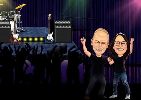 Auf dem Rock Konzert