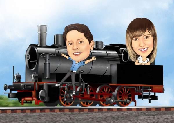 Ein Teil der Lokomotive