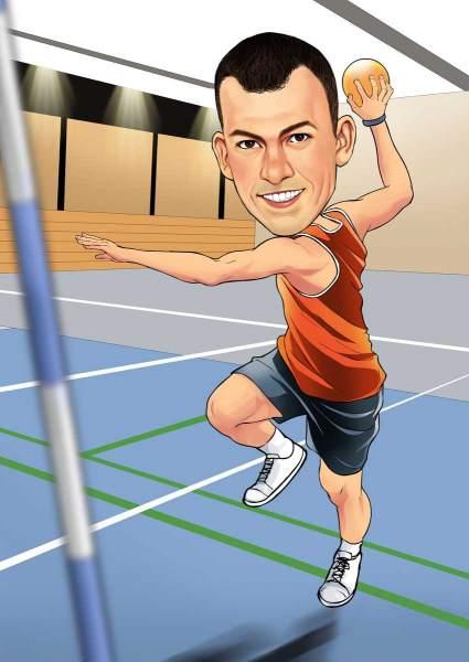 Der Handballspieler