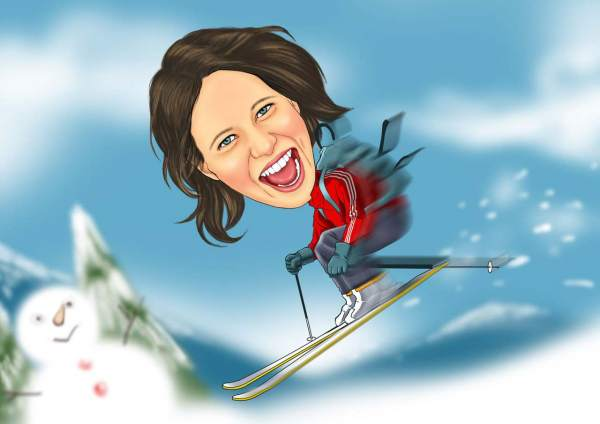 Wilde Skifahrt