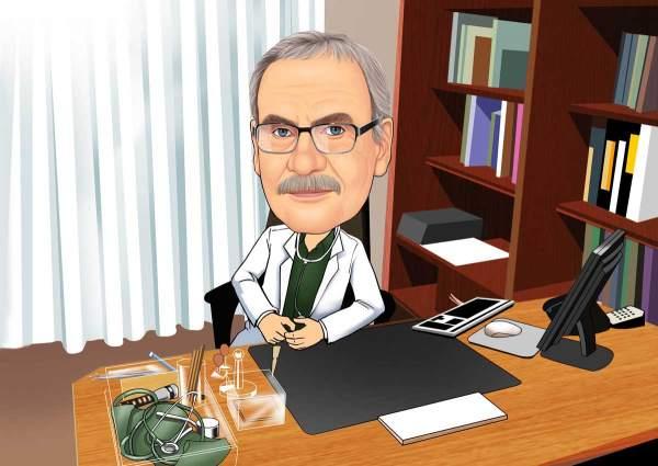 Der Chef Arzt im Büro