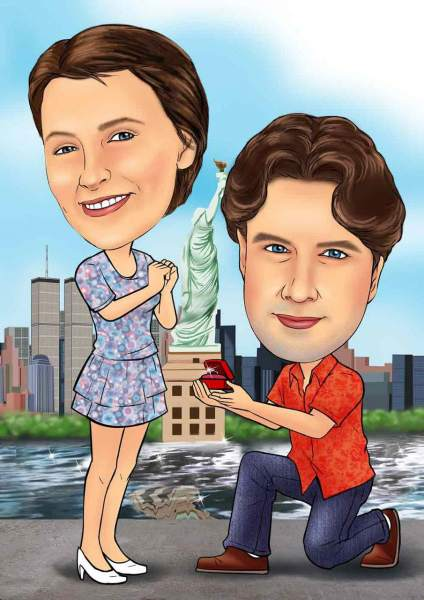 Heiratsantrag in New York