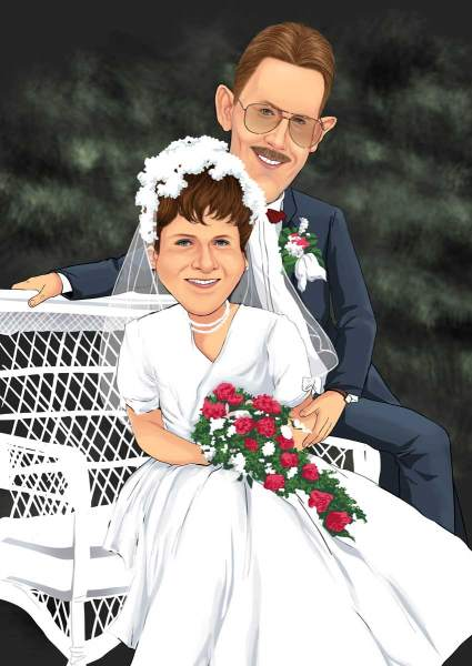 Ein Andenken zur Hochzeit