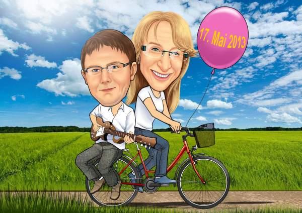 Fahrradtour mit der geliebten