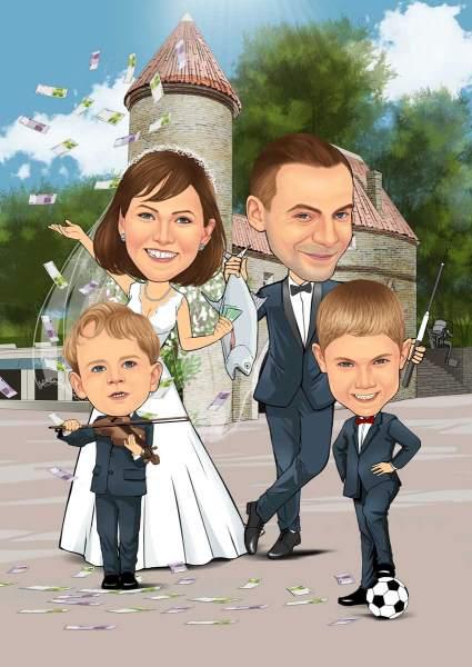 Hochzeit mit den Kindern