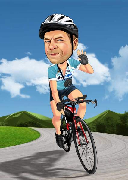 Mit dem Rennrad unterwegs