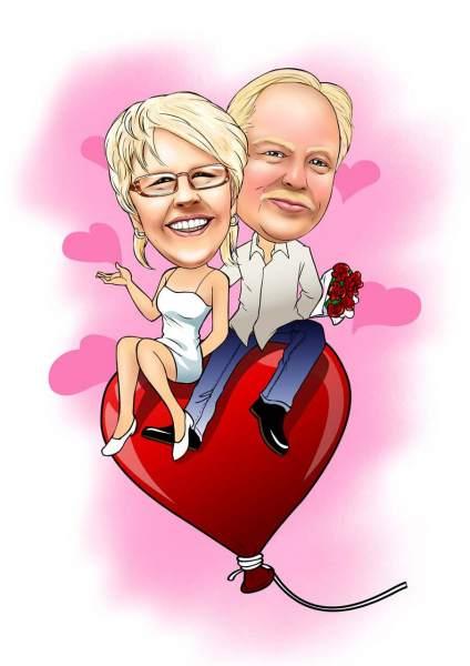 Schwebendes Ehepaar