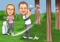 Golf- Querschläger