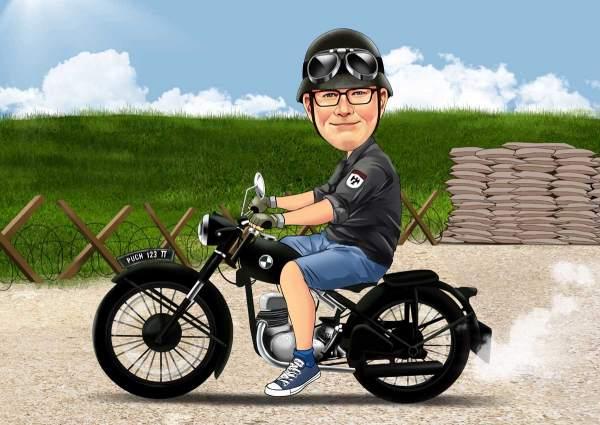 Spritztour auf einem Oldtimer Bike