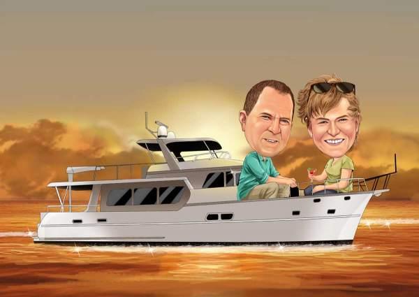 Mit unserem Boot unterwegs