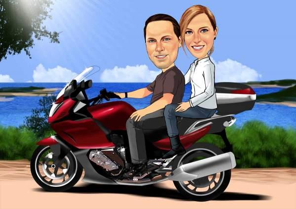 Mit dem Motorrad zur See