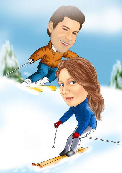Slalom durch den Schnee