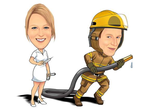 Die Krankenschwester und der Feuerwehrmann