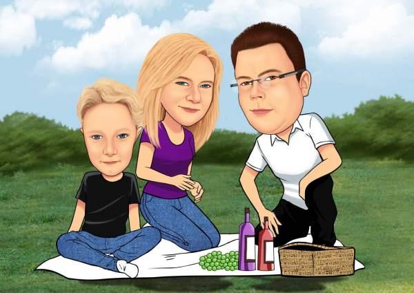 Familienpicknick