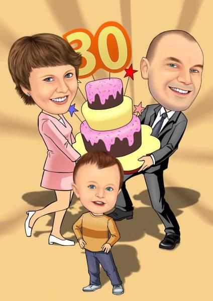 Geburtstag mit der Familie