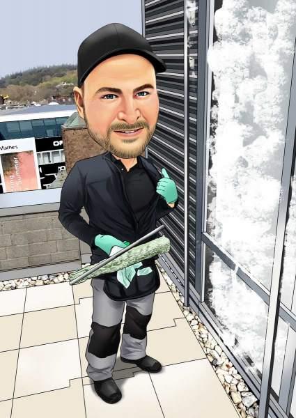 Der Fensterputzer
