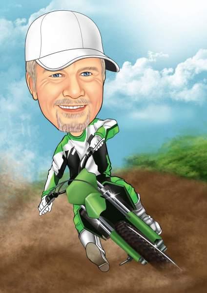 Der Motocross Fahrer