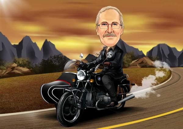 Mit dem Motorrad im Land unterwegs