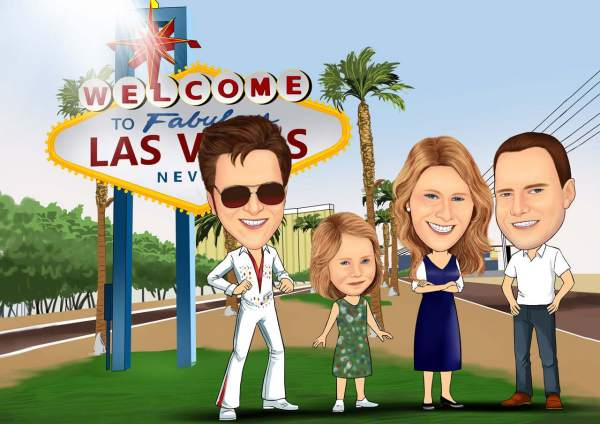 Las Vegas/Foto mit Elvis Presley