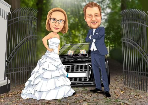 Wohlhabendes Hochzeitspaar