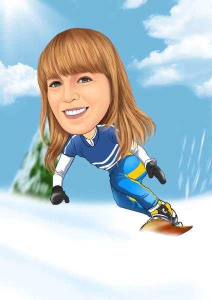 Snowboarderin