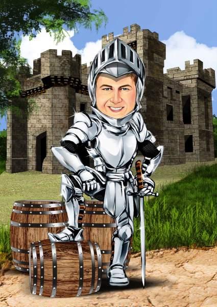 Ein Ritter vor der Burg