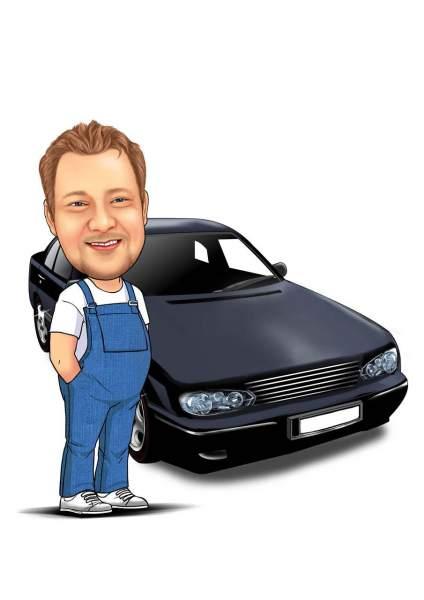 Der Mechaniker und sein Auto