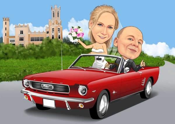 Traum Hochzeit im Oldtimer