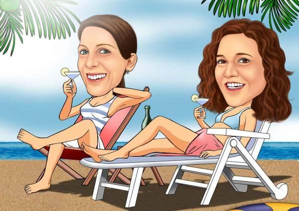 Frauen Urlaub