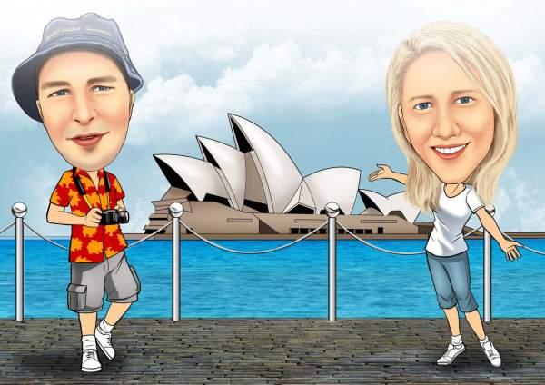 Vor dem Opernhaus in Sidney