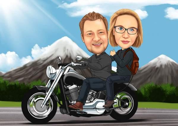 Mit dem Motorrad in die Berge