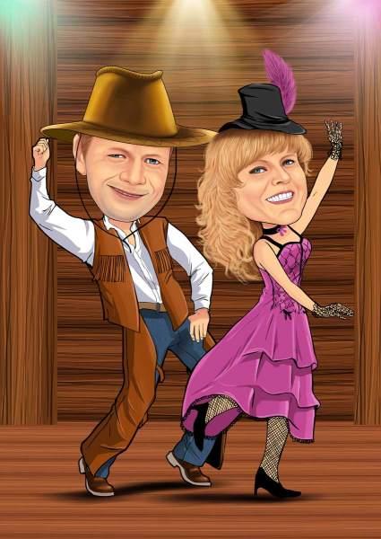 Cowboy Tanzstunde