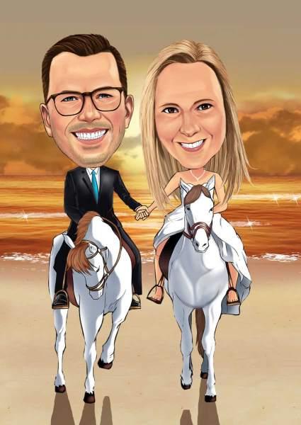 Traum Hochzeit auf dem Pferd