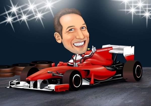 Erfolgreich im roten Ferrari
