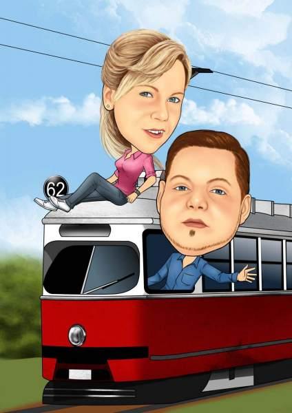 Gefährliche Zugfahrt