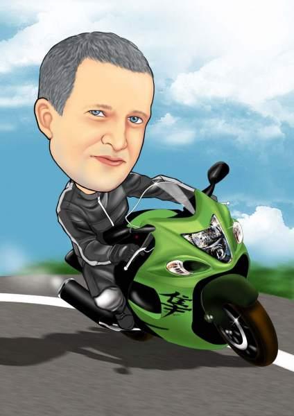 Der Motorradrennfahrer