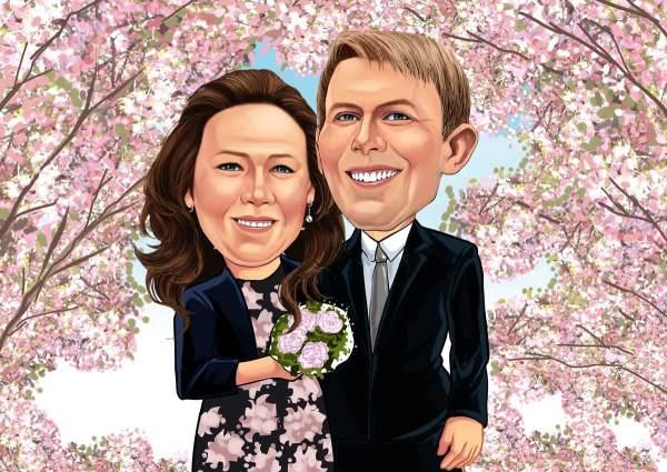 Hochzeit unter Kirschblüten