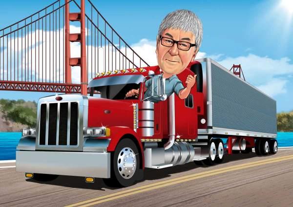 US Trucker Fahrer