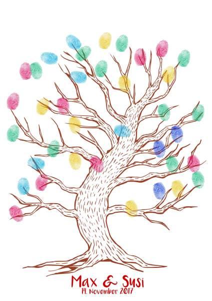 Fingerabdruckbaum leichtes braun
