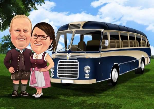 Mit unserem Oldtimer Bus unterwegs