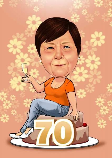 Geburtstagsgruß zum 70.